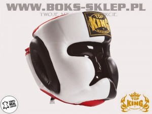 Kask sparingowy - TOP KING Extra Coverage White