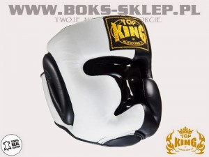 Kask sparingowy - TOP KING Extra Coverage Black-White
