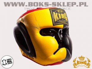 Kask sparingowy - TOP KING Extra Coverage Yellow