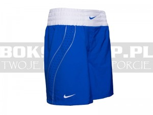 NIKE - Spodenki bokserskie Boxing Shorts - Blue