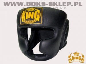 Kask bokserski - TOP KING Full Coverage Black