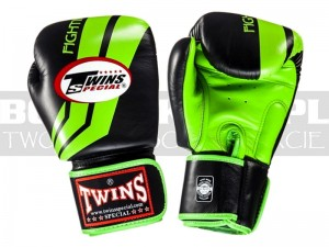 Rękawice bokserskie TWINS Fighting Spirit FBGV-43 - Black-Green