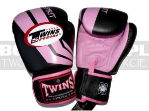 Rękawice bokserskie TWINS Fighting Spirit FBGV-43 -Black-Pink