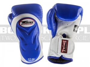 Rękawice Muay-Thai TWINS BGVL-6 - Blue-White Palm