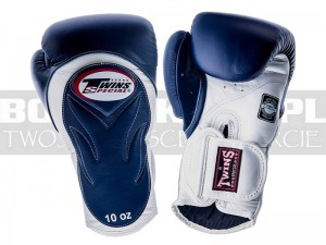 Rękawice Muay-Thai TWINS BGVL-6 - Navy-White Palm