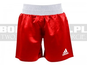 Spodenki bokserskie Adidas Multiboxing - ADISMB01 Red-White