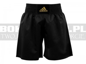 Spodenki bokserskie Adidas Multiboxing - ADISMB02 Black-Gold