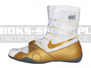 Buty bokserskie NIKE HyperKO - White-Gold Limited Edition