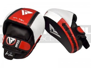 Łapki bokserskie mma RDX SPL-T2R Smarty Red Leather