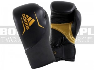 Rękawice bokserskie Adidas Speed 300 black-gold - ADISBG300