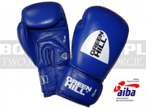 AIBA Green Hill - Rękawice bokserskie SUPER STAR z AIBA Blue - BGS-1213A