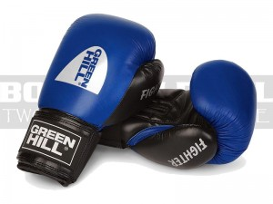 Rękawice bokserskie Green Hill FIGHTER Blue-Black - BGF-2106