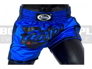 Muay-Thai - Spodenki tajskie Fairtex Royal Blue New Styl BS1702