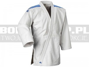 350gsm - Judoga juniorska Adidas CLUB White-Blue