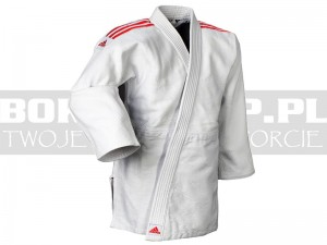 690gsm - Judoga Adidas QUEST White-Red