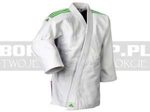 690gsm - Judoga Adidas QUEST White-Green