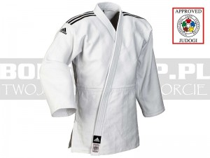 730gsm - IJF judoga Adidas CHAMPION II Normal - White
