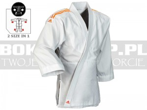 250gsm - Judoga dziecięca Adidas EVOLUTION II White-Orange