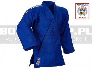 730gsm - IJF judoga Adidas CHAMPION II Slim Fit - Blue