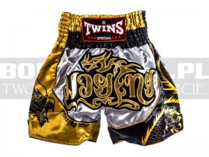 Muay-Thai - Spodenki tajskie TWINS Fighting Spirit - balck-gold-silver