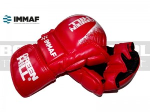 Rękawice MMA Green Hill MMI-601 Red - approved IMMAF