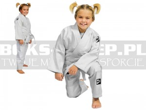 120cm - 250gsm - Judoga GREEN HILL Kids White - JSK-10464