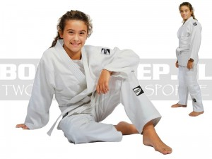 160cm - 350gsm - Judoga GREEN HILL Junior White - JSC-10204