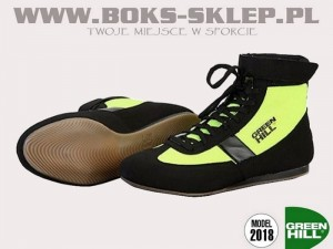 Buty bokserskie GREEN HILL 2018 - SSB-1802 Black-Yellow