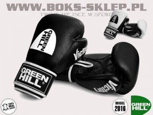 12oz - Rękawice Bokserskie GREEN HILL VICTORY Black-White