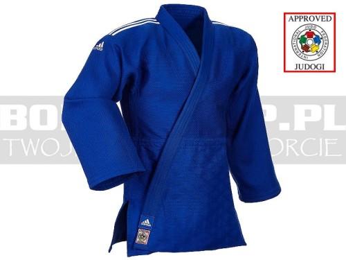 IJF Judoga Adidas Champion II J730 Niebieski Slim Fit