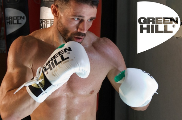 Boxing Gloves Green Hill Lotus White-Green