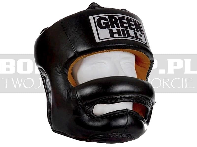 GREEN HILL Casco PARAZIGOMI Paramento Ironside Boxe Vera Pelle Opzionale Grata Ferro GRIGLIA Kick Boxing Krav Maga Difesa Personale